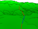 A Screen-Space Approach to Rendering Polylines on Terrain